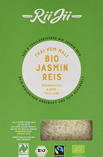 RiiJii Bio Jasmin Reis Thai Hom Mali FairTrade Naturland, 500 g