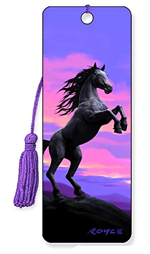 3D Lenticular Royce Bookmarks by Artgame - TOP Designs (Black Stallion)