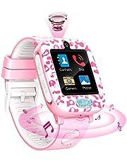Fitonme Kinderen Smartwatch Telefoon, horloge voor kinderen Telefoon met SOS Muziekspel Videogesprek 2camera 6spel slim horloge voor jongens Meisjes 3-12Y verjaardag cadeaus