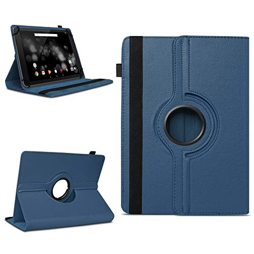 NAmobile Schutzhülle kompatibel für TrekStor Primetab P10 Tablet Hülle Tasche Hülle Cover 360 Drehbar, Farben:Blau