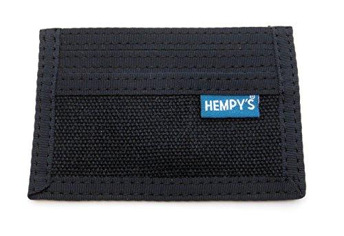 Hempy's Hemp Minimizer Wallet - Black - One Size