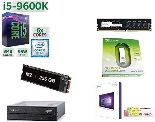 GAMMA PC SSD DESKTOP COMPLETO INTEL I5-9600k 4.6 GHZ 6-CORE 9°GEN/LICENZA WINDOWS 10 PRO 64 BIT/GRAFICA HD 630 1GB/WIFI 300MBPS/SSD m2 256GB/RAM 8GB DDR4 2666 MHZ/HDMI