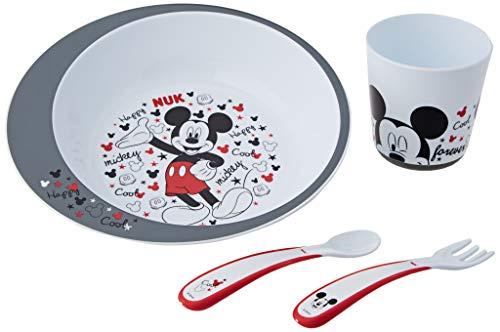 NUK - Coffret Vaisselle Bébé Disney Mickey avec Assiette,...