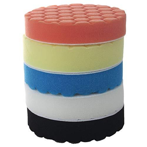 Kit Pulido Coche Esponja de pulido Pulido de pastillas de 5 pulgadas auto del coche for pulir Kit for la memoria de pulimento del coche 5
