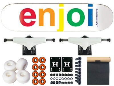 Enjoi Spectrum Skateboard completo bianco, 7.60