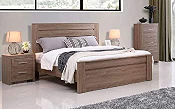 Jason 5 Pieces Bedroom Package with Queen Bed (Dark Oak)