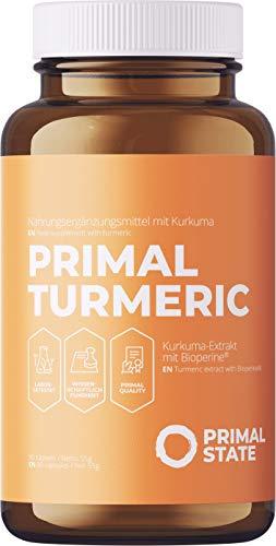 Kurkuma Kapseln Hochdosiert - Curcumin pro Kapsel entspricht ca 15.800mg Kurkuma - 95% Extrakt mit Bioperin - Curcuma Extrakt Hochdosiert, Vegan & ohne Zusatzstoffe - 90 Curcuma Kapseln