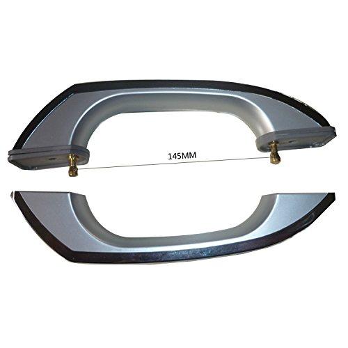 1Paar Dusche Bad Tür Griff/Kunststoff verchromt 14,5cm Löcher apart145mm
