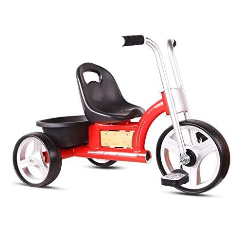 HKX Triciclo, Triciclo Retro multifunción para niños, desmontaje rápido y Rueda Inflable, Triciclo para Exteriores para bebés, 2 Colores, 52 * 74 * 46 cm (Color: Rojo)