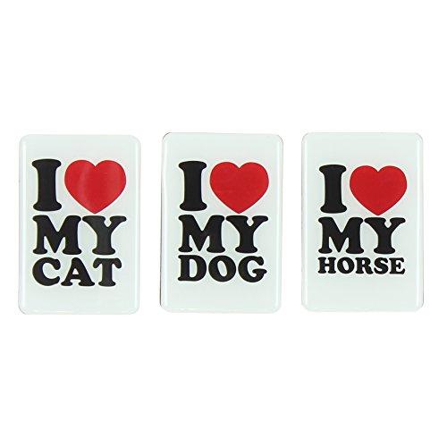 Animaux animaux Aimant de réfrigérateur, I Love My Cat