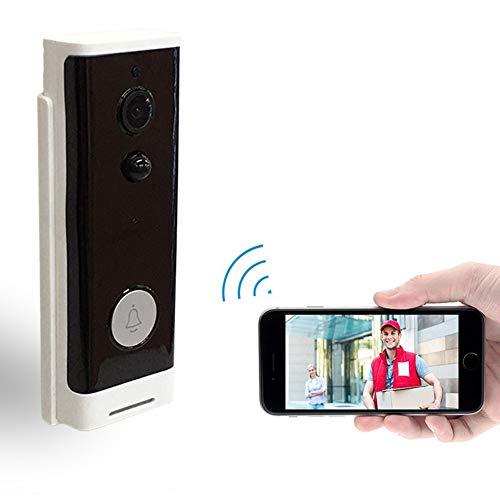 QUWN-WiFi draadloze intelligente ronde knop videodeur ondersteuning infrarood bewegingsdetectie & adaptieve rate & tweeweg intercominstallatiefunctie en afstandsbediening werkt niet batterij inbegrepen
