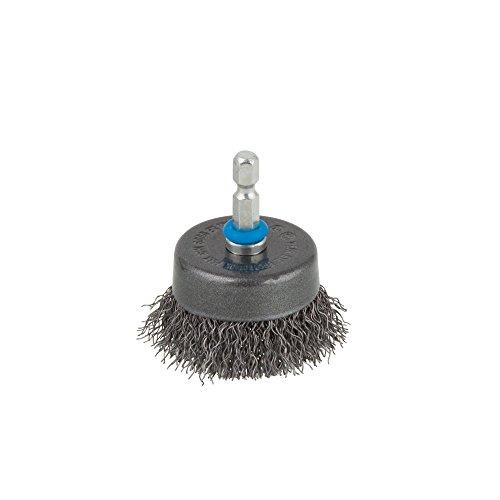 Wolfcraft 2106000 (L) cepillo metálico en forma de copa, vástago hexagonal 1/4 (6,35 mm) PACK 1, 50mm