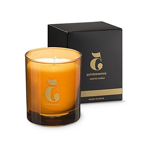 Mediterranean Candles Velas aromáticas Decorativas, Cera, Ámbar, 8X8X9