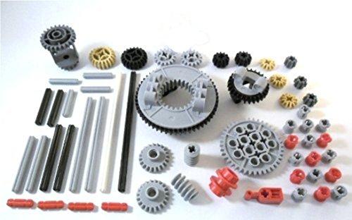 Lego - 57 piezas de engranajes, ejes y tapón