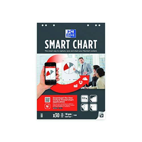 Oxford Smart Flipchart-Rahmen, liniert, quadratisch, 25 mm, 3 Stück
