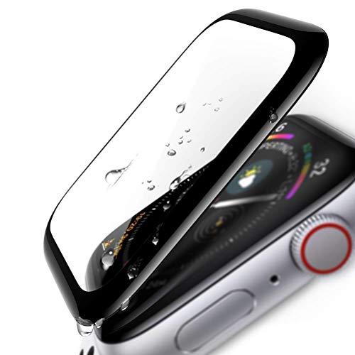 Seinal 3D Full Screen Panzerglas kompatibel für Apple Watch 44mm Series 5/4 (2 Stück) Schutzfolie 9H Screen Protector Glass Displayschutzfolie/Panzerfolie 3D Touch Hartglas Staubdicht Tempered Glas