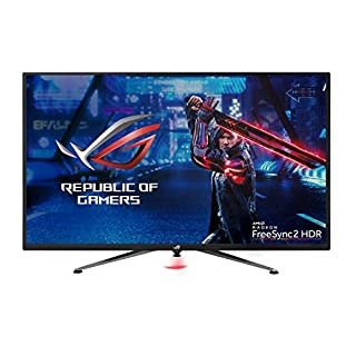 "Asus ROG Strix XG438Q 43"" Large Gaming Monitor with 4K 120Hz FreeSync 2 HDR Displayhdr 600 90% DCI-P3 Aura Sync 10W Speaker Non-Glare Eye Care with HDMI 2.0 DP 1.4 Remote Control,Black (B07WDLV344) 