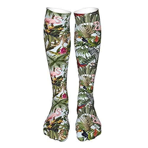 Calcetines de compresión para mujeres y hombres, animales de la selva, flores y árboles, mejor soporte para correr, deportes, senderismo, viajes en vuelo, circulación
