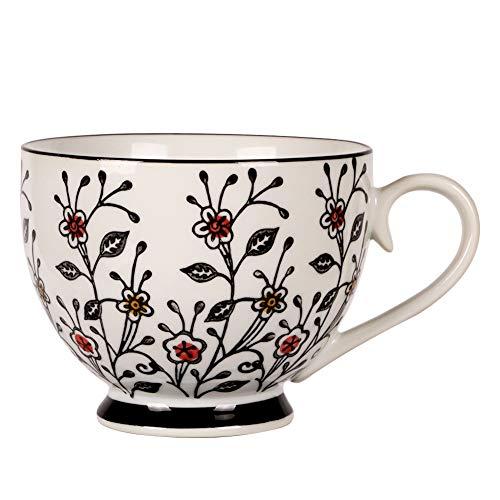 Asmwo Large ceramic soup bowls mug 14oz coffee mugs for women
