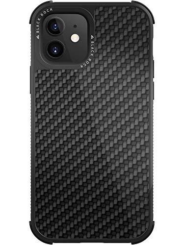 Black Rock - Handyhülle Robust Hülle Real Carbon Hülle passend für Apple iPhone 12 Mini I Karbon, Fiber Cover (Carbon Schwarz)