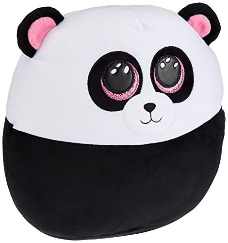 TY- Squish a Boos-cojín Paris Le Panda 40 cm, TY39192, Blanco y Negro