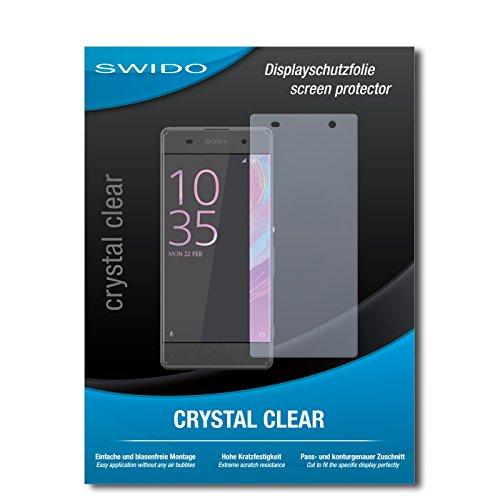 SWIDO Schutzfolie für Sony Xperia XA [2 Stück] Kristall-Klar, Hoher Festigkeitgrad, Schutz vor Öl, Staub & Kratzer/Glasfolie, Bildschirmschutz, Bildschirmschutzfolie, Panzerglas-Folie