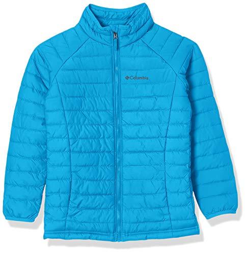 Columbia Powder Lite Girls Jacket, Giacche (3-in-1) Bambina, Fjord Blue, L