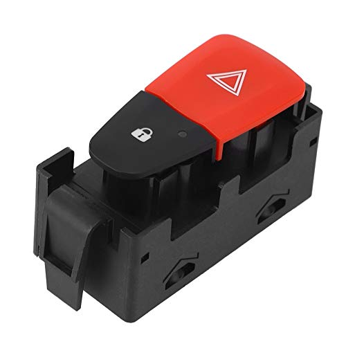 Interruptor de advertencia - Interruptor de advertencia intermitente indicador de botón de peligro compatible con Renault Megane Mk 25210004r-a 252100502r
