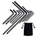 Meideal 11pcs Guitar Allen Wrench Set, Includes 4mm & 5mm Ball End Truss Rod Wrench Repair Tool, for Guitar Bass Neck Bridge Nut Locking Screw Adjustment with Portable Storage Bag