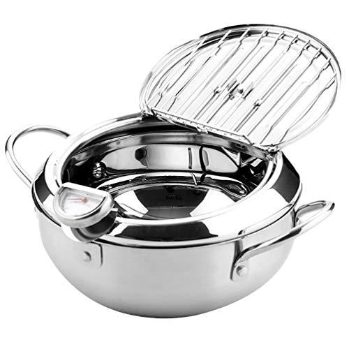 Cabilock - Olla para freír con tapa, sin humo, apta para cocina, asados y cocinas