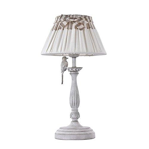 Maytoni ARM013-11-W Classic Bird - Lámpara de mesa, diseño de pájaros