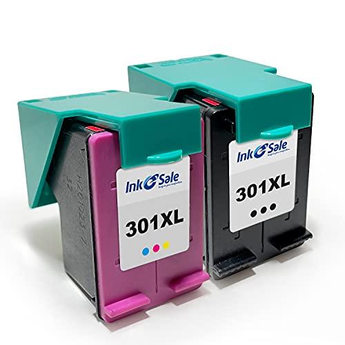 Ink E-Sale Remanufacturado 301XL para Cartuchos HP 301 301XL Compatibles con Deskjet 2540 2510 3050 1000 1010 3000 2050 1050 1051 Envy 4500 4502 5530 Officejet 2620 2621 2622 2624,1 Negro 1 Tricolor