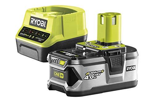 Ryobi 4892210152145 Pack Cargador 1 h + 1 Batería Litio-Ion 18V 4,0 Ah