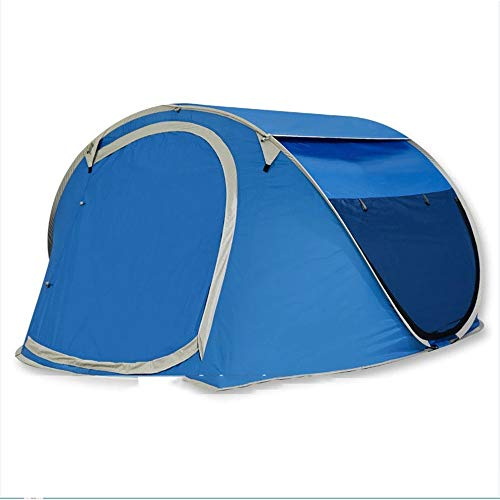 自動セルフポップアウト屋外ハイキングテント、2~4人のためのキャンプテントをバックパック (Color : Dark ...