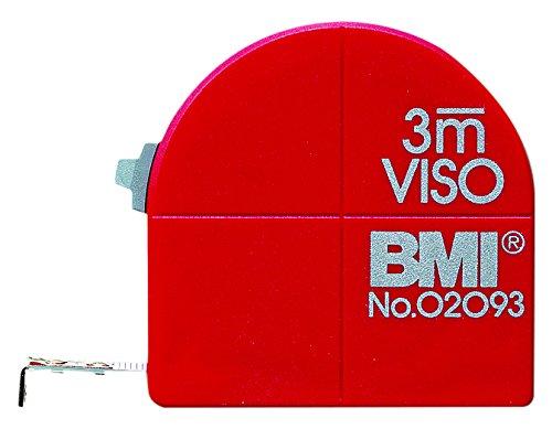 BMI 405341020 Taschenbandmaß Viso 3m mit mm Teilung in SB-Verpackung, rot