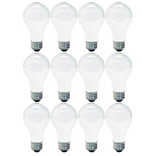 GE WEF Soft White, 12-Pack 66249 72-Watt, 1270-Lumen A19 Light Bulb with Medium Base, 12 Pack