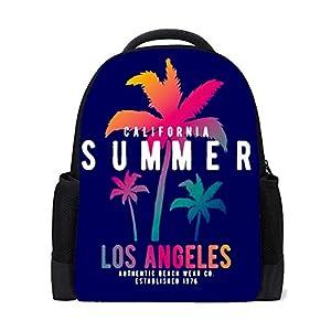 41n8BYZXRFL. SS300  - HAOXIANG - Mochila para la escuela de la universidad con estilo, surf, en Santa Mónica, playa, para niños, para…