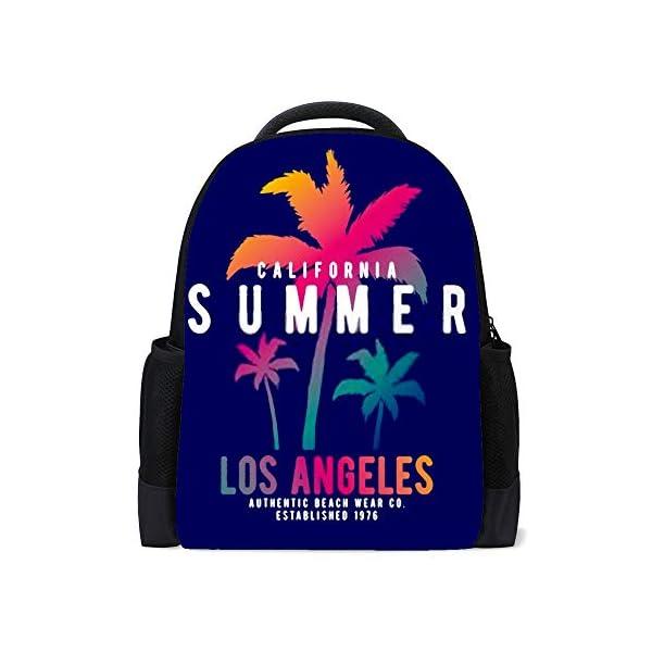 HAOXIANG – Mochila para la escuela de la universidad con estilo, surf, en Santa Mónica, playa, para niños, para…