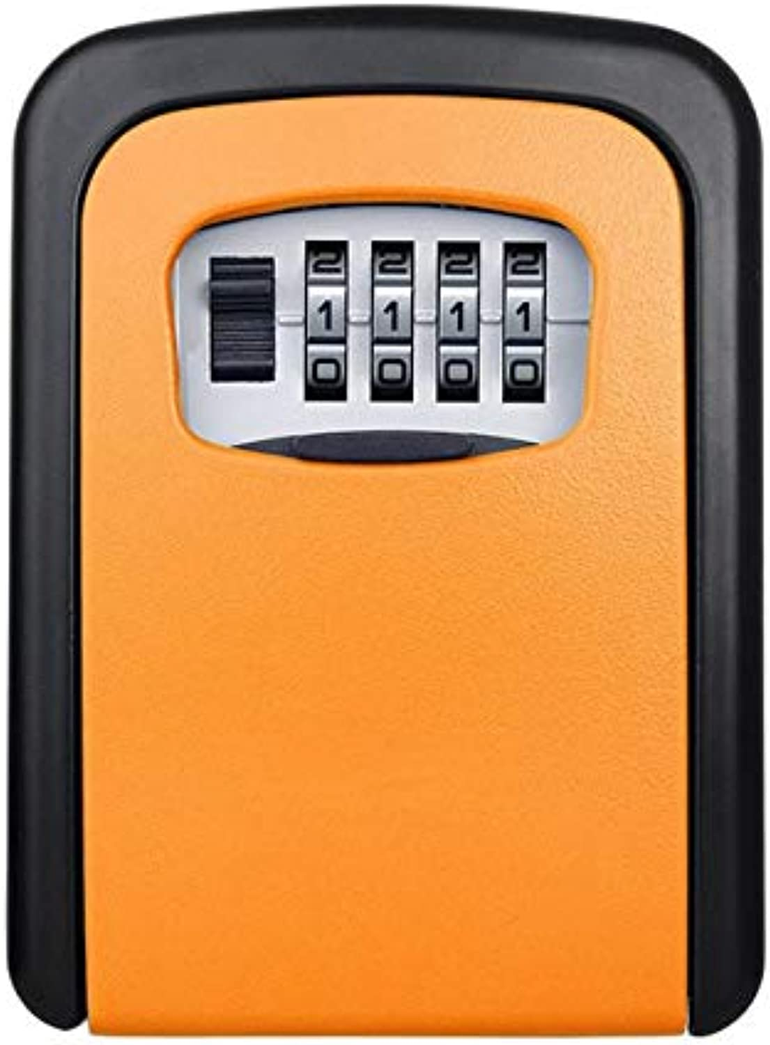 Wall Mounted 4 Digit Combination Key Storage Security Safe Lock Box Combination Storage Security Lock with Screw Hardware  (color  orange)