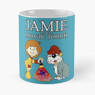 Jamie And The Magic Torch Classic Mug - The Funny Coffee Mugs For Halloween, Holiday, Christmas Party Decoration 11 Ounce White Lilacoo.