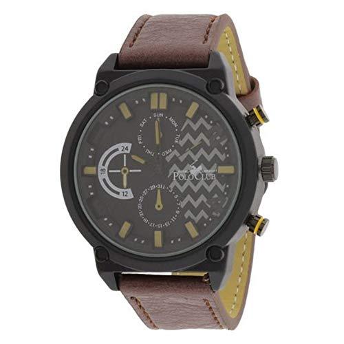 Reloj Polo Club Watches Harlow Casual Para Hombre Color Cafe