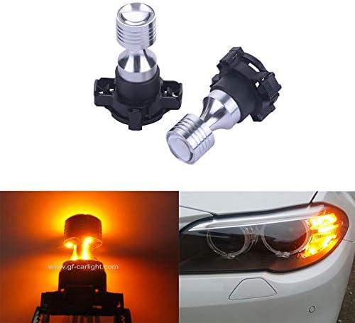 GFJMC Amber Yellow Error Free Cree PY24W E92 Bulbs LED BMW Long Beach Mall for NEW before selling ☆ E
