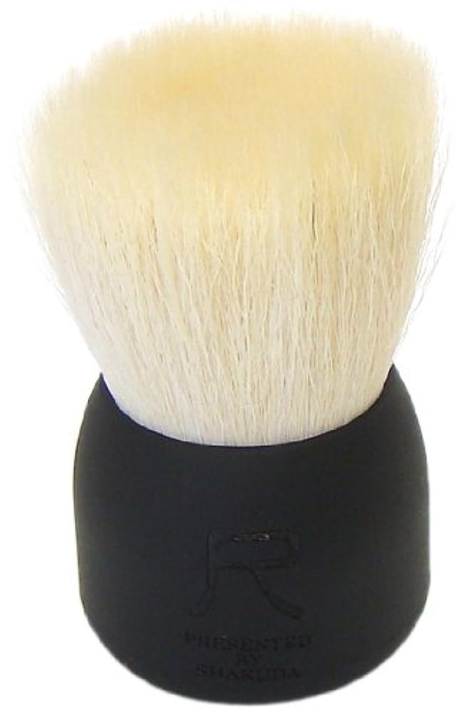 再編成するポンド支払い熊野筆 尺 PRESENTED BY SHAKUDA 洗顔ブラシ(黒)