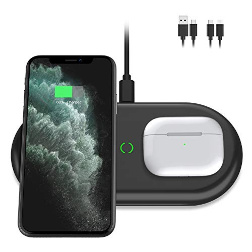 Yootech Dual Fast Wireless Charger, 2 Coils 20W Max 2 in 1 Wireless Charging Pad, Compatible with...