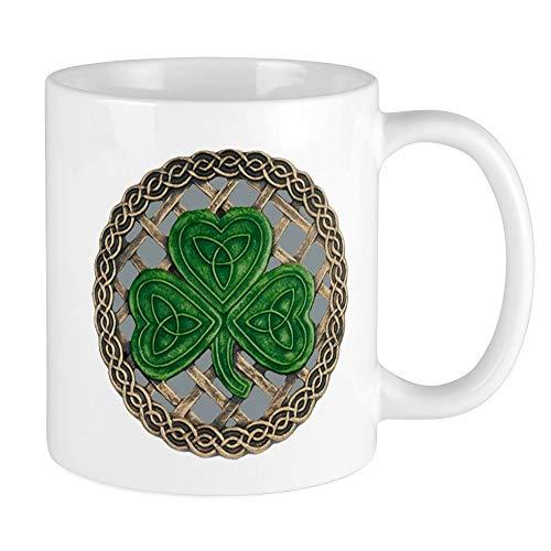 CafePress Shamrock And Celtic Knots Mug Unique Coffee Mug, Coffee Cup