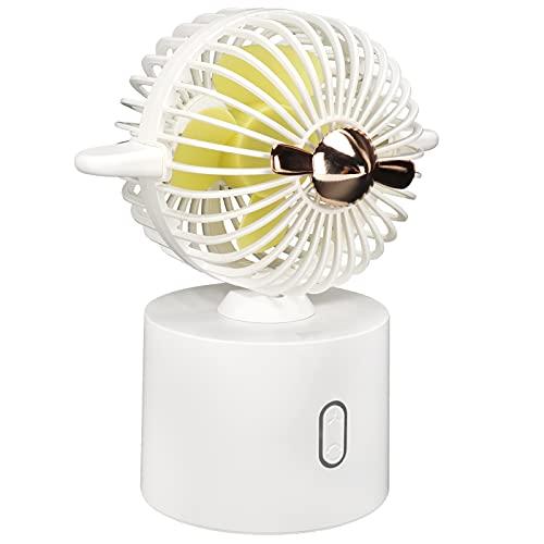 Gedourain Ventilador portátil, Ventilador de Mesa de Escritorio de la pequeña Fan de la pequeña Fan eléctrica para el hogar(White, Pisa Leaning Tower Type)