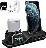 Bestrans Ständer für Apple Watch, Dockingstation Silikon 3 in 1 für iPhone AirPods Apple Watch...