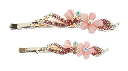 Glamour Girlz - Juego de 2 agarraderas para el pelo, diseño de margaritas, color rosa