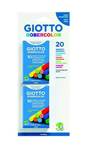 Giotto set 2 astucci con 10 gessetti colorati
