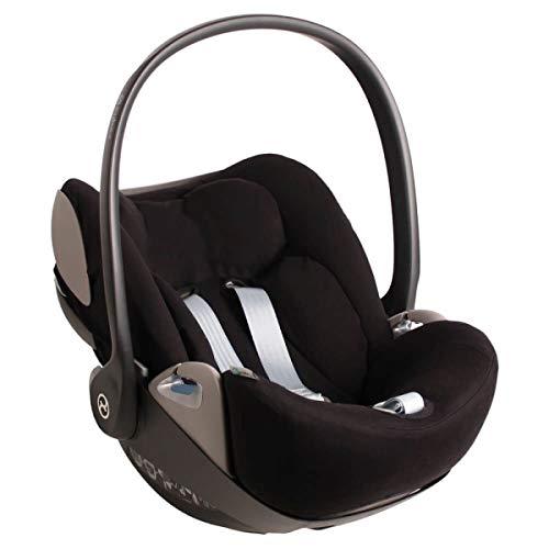 Funda de verano Cybex Cloud Z para portabebés, color negro, monocolor, ajuste perfecto, suave con certificado Öko-Tex 100, algodón que absorbe el sudor y suave para tu bebé.